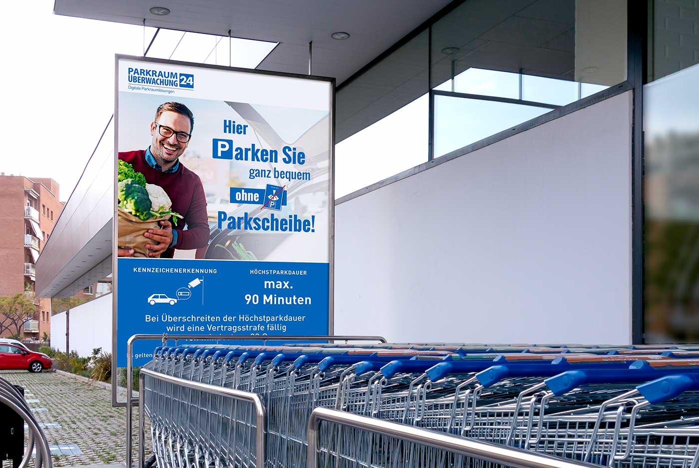 maximale Parkdauer am Supermarkt