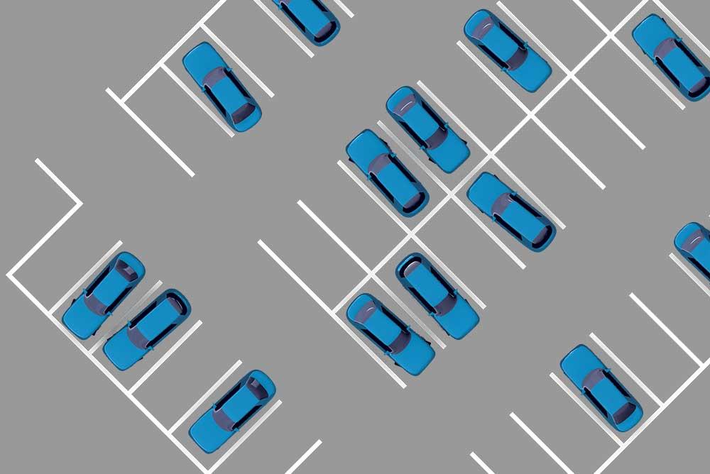 Messung der Parkplatzauslastung